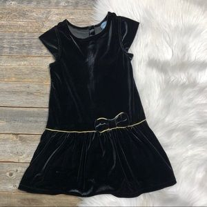 baby Gap Girls Velvet Dress 4 Gold Trim BowHoliday